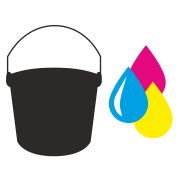 Idividual color logo print on recycling bucket 12 l