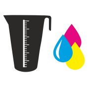 Individual scale and logo overprint on measure SMART 2000 ml