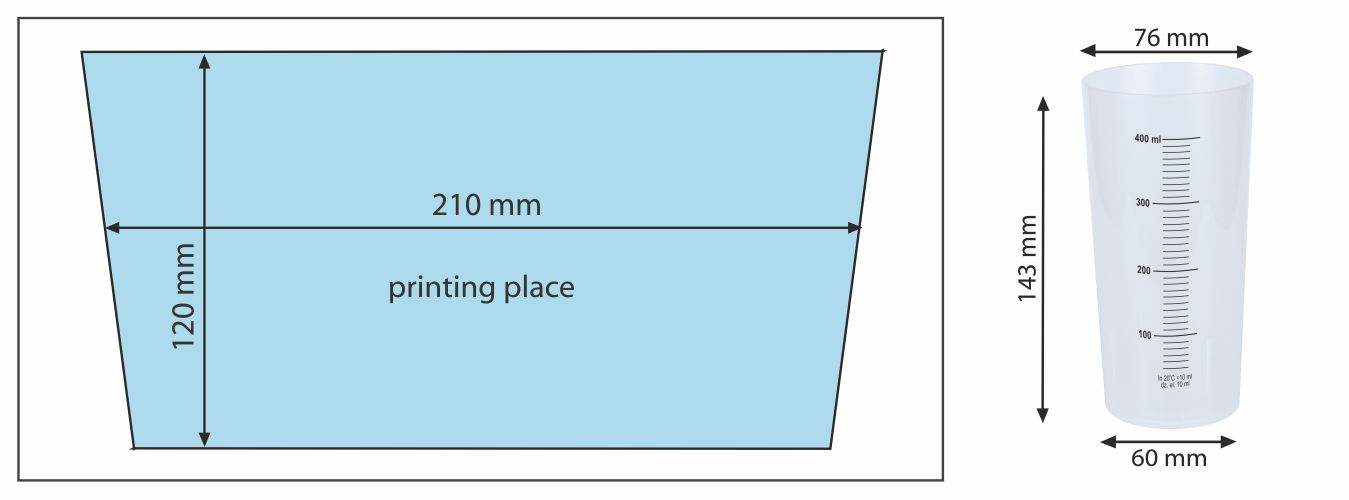 Cup EVENT 400 ml - place of printing