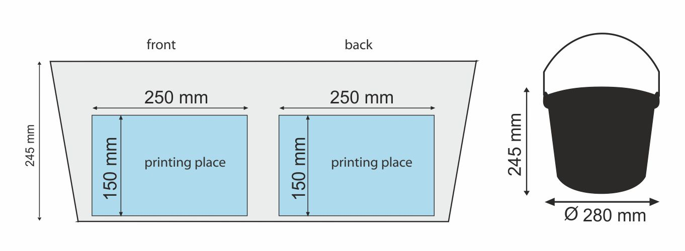 Measure BUCK 10 l - place of printing