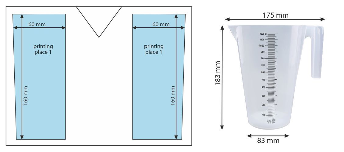 Measure SMART 2000 ml - place of printing